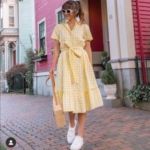Lisa Marie Hernandez Yellow Gingham Dress